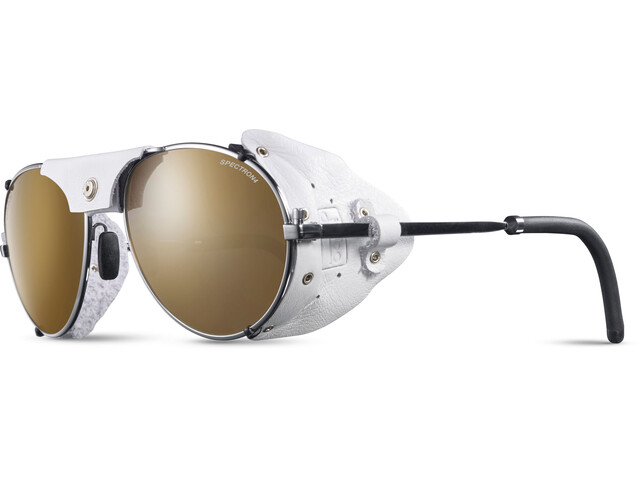 Julbo Cham Spectron 4 Lunettes de soleil, chrome/white-brown flash silver